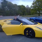 Lamborghini driving at Longcross Proving Ground